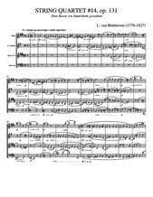 Beethoven String Quartet No.14 - Score and Parts